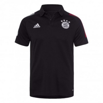 Bayern München galléros póló 2020/21 (fekete)