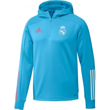 Real Madrid kapucnis edzőpulóver 2020/21 (kék)