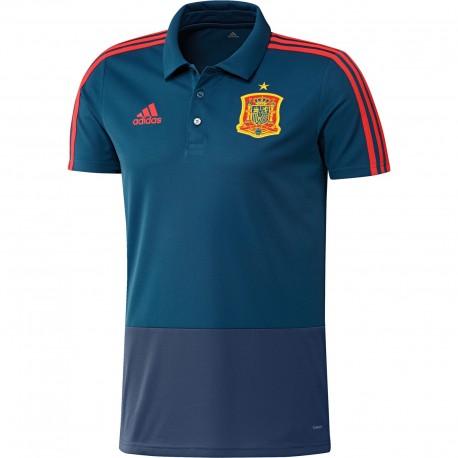 Spanyol Válogatott 2017-18 Galléros póló (kék) 7587a4f9fe
